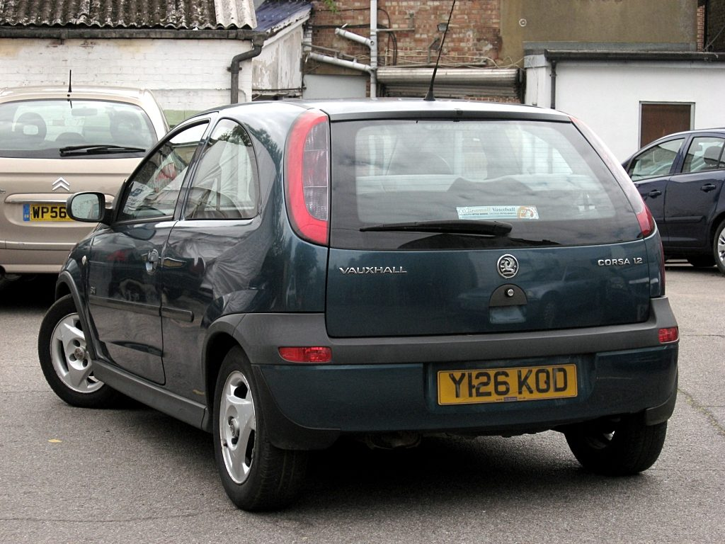 Vauxhall Corsa 1.2 SXi 3 door - rear view